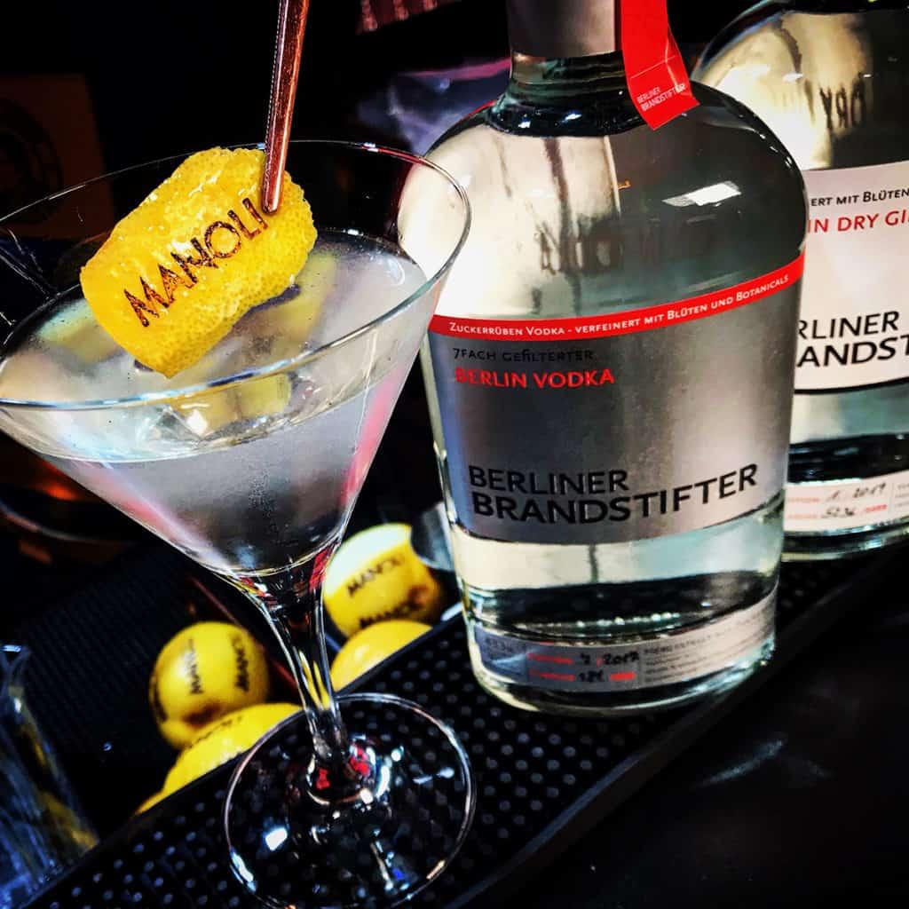 Flasche Berliner Brandstifter Manoli Martini